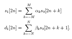 Daub5/3 Equation