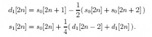 Daub 5/3 Lifting Equation